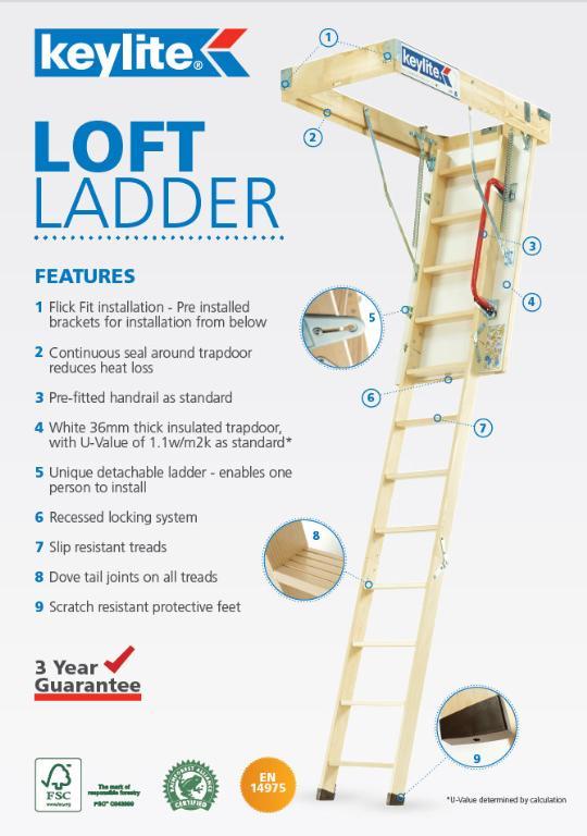 Keylite Timber Loft Ladder