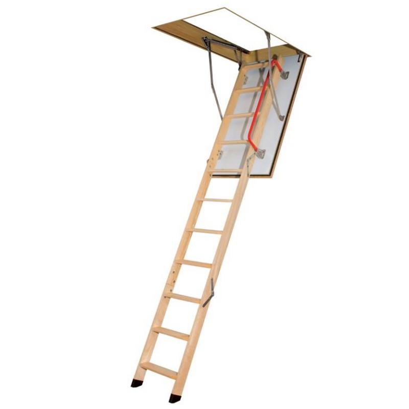 3 section timber folding loft ladder. Black Bedroom Furniture Sets. Home Design Ideas