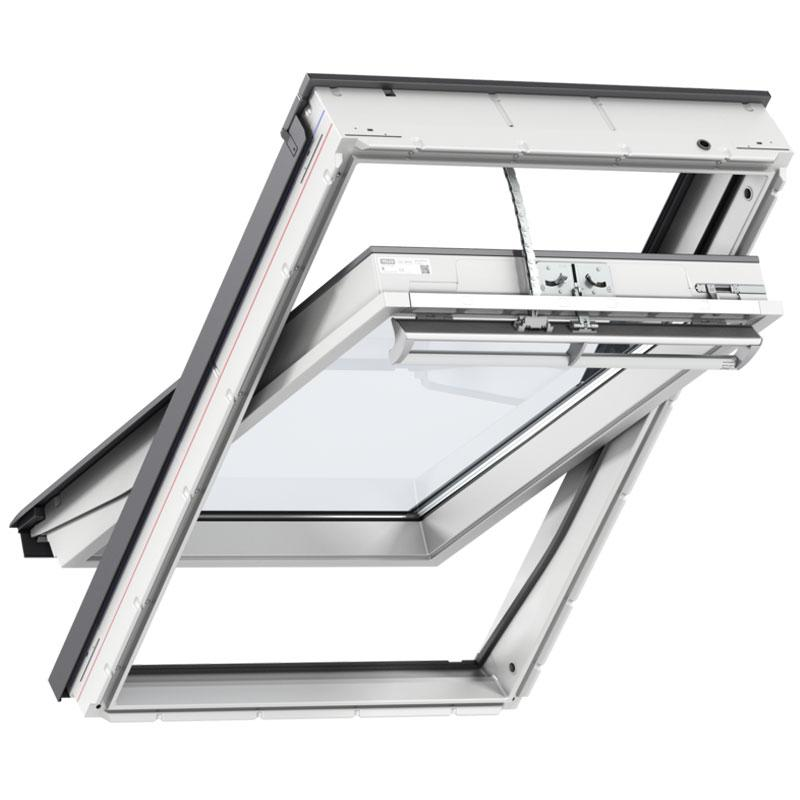 Velux electrically operated roof window white for How to clean velux skylights
