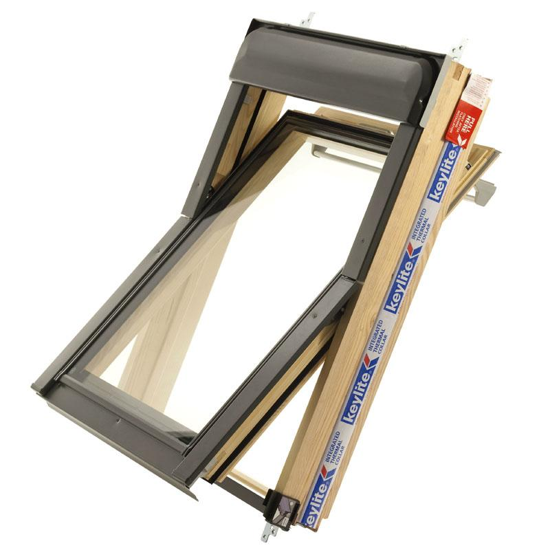 Wooden velux roof windows wood skylights for Velux glass