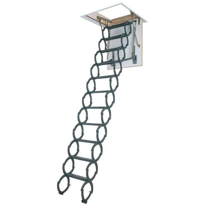 concertina loft ladder complete with hatch and frame. Black Bedroom Furniture Sets. Home Design Ideas
