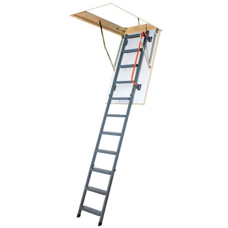 3 section steel folding loft ladder white hatch. Black Bedroom Furniture Sets. Home Design Ideas