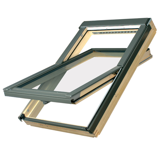 Fakro Centre Pivot Timber Roof Window FTP-V P2