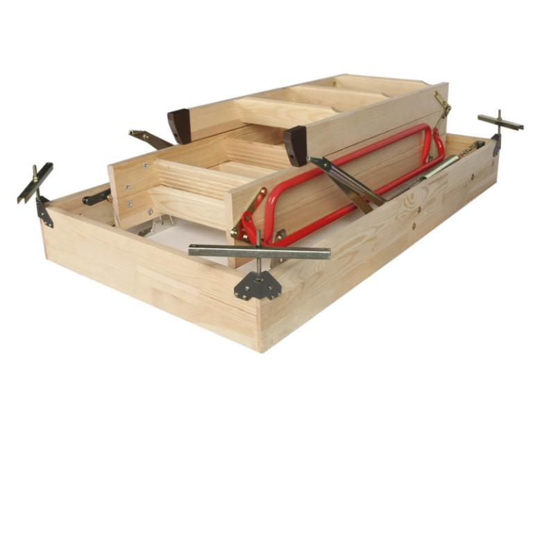 3 Section Timber Folding Loft Ladder