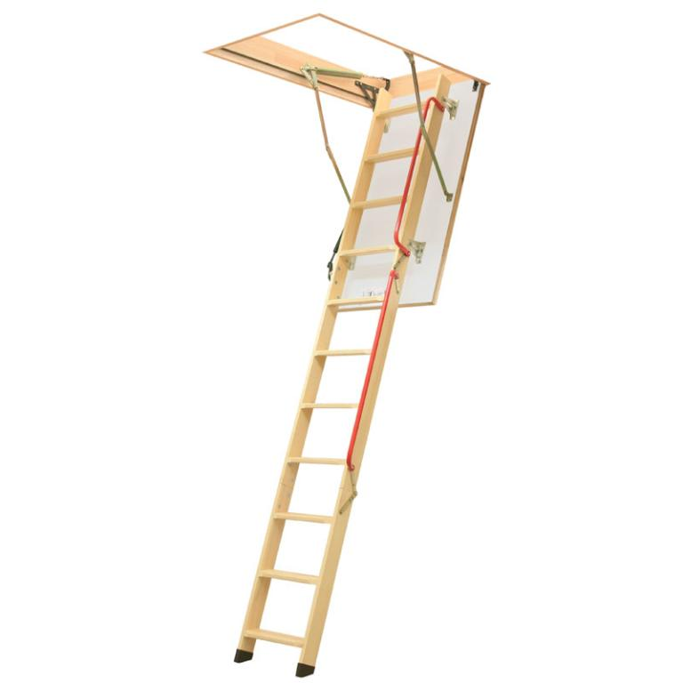 3 Section Timber Folding Loft Ladder - Piston Assisted LWL Lux